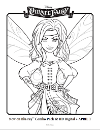 Small Picture The Pirate Fairy Coloring Sheets Disneys The Pirate Fairy