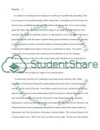 excellent ideas for creating essay on sonnet  essay questions cliffsnotes essay on sonnet 116