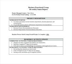 Weekly Progress Report Templates Weekly Activity Report Template Metabots Co