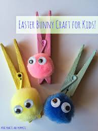 Kids Craft Easter Clothespin Bunny Kids Craft Easter Bunny And Art Activities