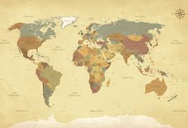 Us 3 67 8 Off Laeacco Old World Map Wallpaper Baby Study Portrait Pattern Photographic Backgrounds Photography Backdrops For Photo Studio In