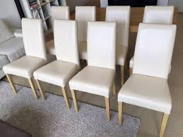 8x Freedom Furniture Dining Chairs PU Leather Natural Timber Legs |  Gumtree Australia Pinterest
