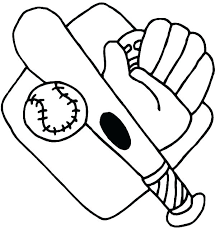 Coloring Pages Baseball Bat Coloring Pages Page Free Picture