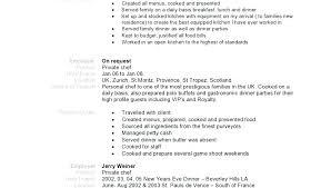 Personal Chef Resume New Private Chef Resume Dewdrops