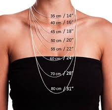 Necklace Size Chart Choosing The Right Necklace Length Necklace Lengths