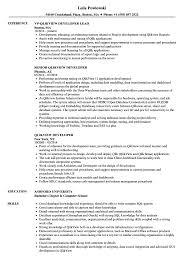 Qlikview Resume Sample Qlikview Developer Resume Samples Velvet Jobs 3