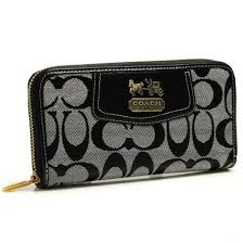 ... Coach Logo In Signature Large Grey Wallets BFY,coach sale purses,luxury  lifestyle brand ...