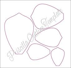 Small Paper Flower Templates Printable Paper Flower Template Download Them Or Print