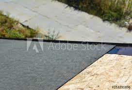 Roofing Construction With Asphalt Shingles Installation