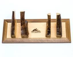 wooden ski rack 2 rustic magnetic ski rack with rubber mat wall ski rack diy