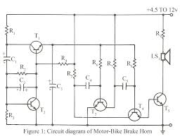 motor bike brake horn electronics project circuit diagram maker circuit diagram of motor bike brake horn