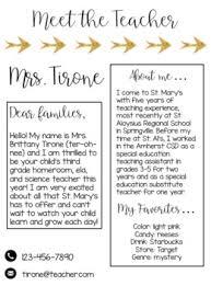 Editable Meet The Teacher Letter Welcome Letter Parent Survey Gold Arrow