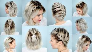 fashion delightful cute short hair updo collection 10 easy braids for short hair tutorial cute