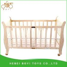 Wooden Crib Best Solid Wood Baby Bed Baby Crib New Style Mini Wooden ...