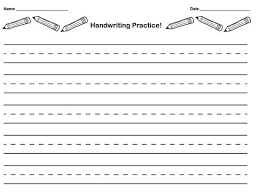 Handwriting Paper Printable Free