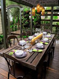 Cool patio furniture ideas Balcony Woodtablewaterresistentforoutdoor Homedit 50 Outdoor Party Ideas You Should Try Out This Summer