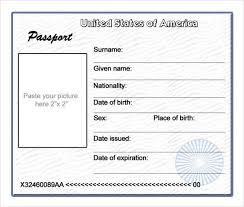 Free Passport Template For Kids Passport Template For Kids sanjonmotel 18