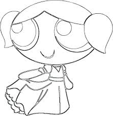 The Girls Pillow Fight Coloring Page Color Powerpuff Home