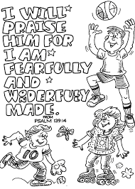 Faith Coloring Page To Print I Will Praise Him Childrens Church