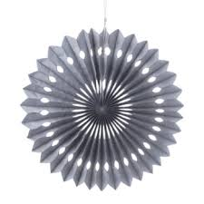 pinwheel paper flower fans grey cut out