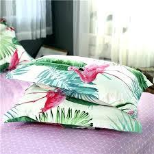 flamingo bedding pink tropical paradise duvet set sheet twin mandala personalized bohemian sets toddler single cover california king
