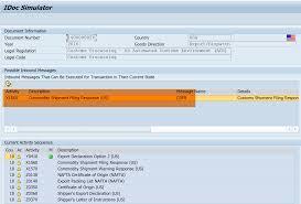 Gts Customs Export Decleration Idoc Simulation Sap Blogs