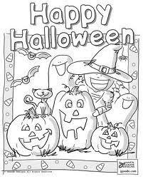 Kleurplaten Voor Halloween