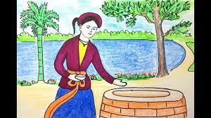 Vẽ tranh đề tài - minh họa truyện cổ tích - Tấm Cám - YouTube