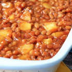 baked beans with pineapple rings