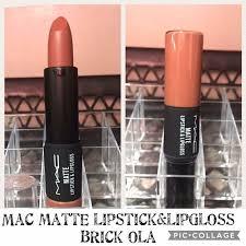 mac matte lipstick lipgloss brick ola
