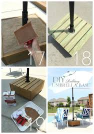 diy rolling umbrella base from confessionsofaserialdiyer com