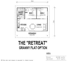 tiny house single floor plans 2 bedrooms | UBuild Designs  Standard 2  Bedroom Granny Flat