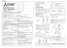 mitsubishi electronics muz ge18na user39s manual amp mitsubishi pac se40tsa remote sensor air conditioner installation mitsubishi mr slim manual