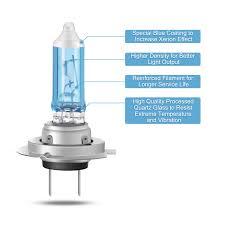 com agptek h7 halogen headlight bulb 12v 55w 5000k 2 pack automotive