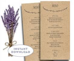 free word menu template printable wedding menu template kraft menu template 4 x 8