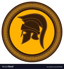 Greek Hoplite Shield Designs Ancient Greek Helmet With A Crest On The Shield