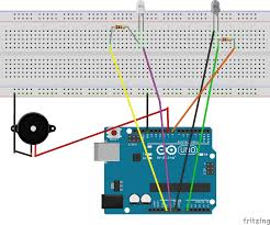 learn through example arduino burglar alarm using infrared circuit diagram