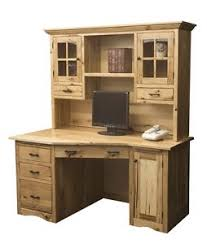 wood office cabinet. Image Is Loading Amish-Rustic-Mission-Wedge-Computer-Desk-Hutch-CPU- Wood Office Cabinet O