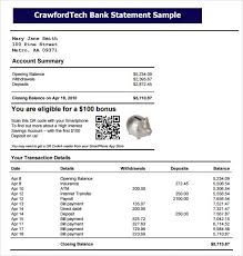 Sample Bank Statements Bank Statement 9 Free Samples Examples Format