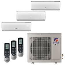 2 zone mini split. Perfect Zone GREE Multi21 Zone 26000 BTU Ductless Mini Split Air Conditioner With Heat  Inverter And 2 L