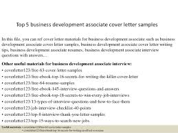 Business Development Cover Letters Top 5 Business Development Associate Cover Letter Samples