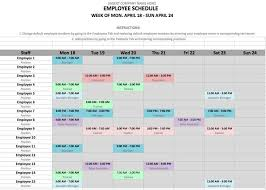work time schedule template how to make a work schedule for employees free printable calendar