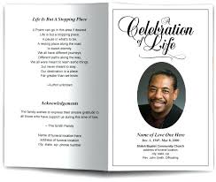 Memorial Announcement Cards Memorial Announcement Template Obituary Cards Sample Card For