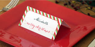 christmas placecard templates holiday place card diy printable
