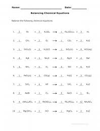 cool answer key for the balance chemical equations worksheet eigram 9fda5eb4d3bca06e75551a570 chemical equations and stoichiometry worksheet