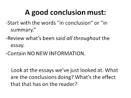 the most important part of any essay ppt video online  a good conclusion must