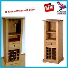 unique wine rack wood bar glass holder drink storage cabinet home furniture unit for