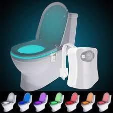 Đèn LED Toilet treo bồn cầu cảm ứng tự động bật tắt ánh sáng 8 màu, cảm  biến thông minh nhà vệ sinh SMARTZY