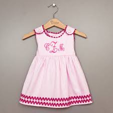 pink monogrammed baby dress by dressy baby