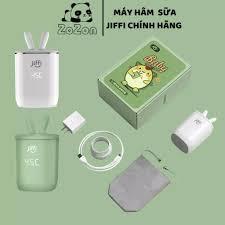 MÁY HÂM SỮA xách tay mini Jiffy] + [5 QUÀ TẶNG CHO BÉ] hàng chính hãng tiệt  trùng 8800mAH 399gram - Máy tiệt trùng, hâm sữa